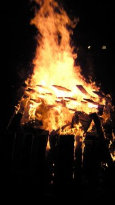 大宝神社の焚火