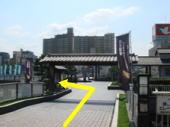 草津駅から近鉄百貨店へ