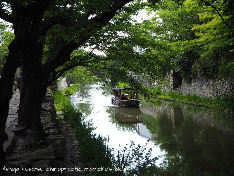 屋形船と八幡堀