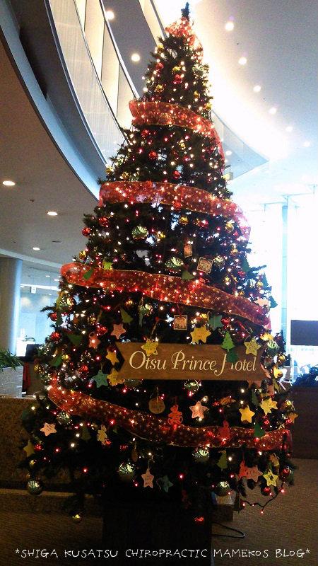 大津プリンスのクリスマスツリー
