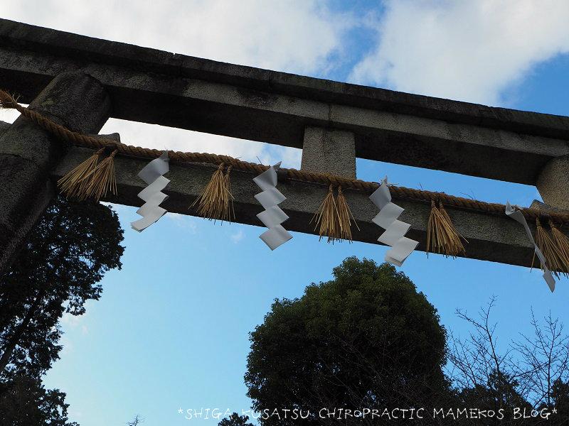 神田神社鳥居下から