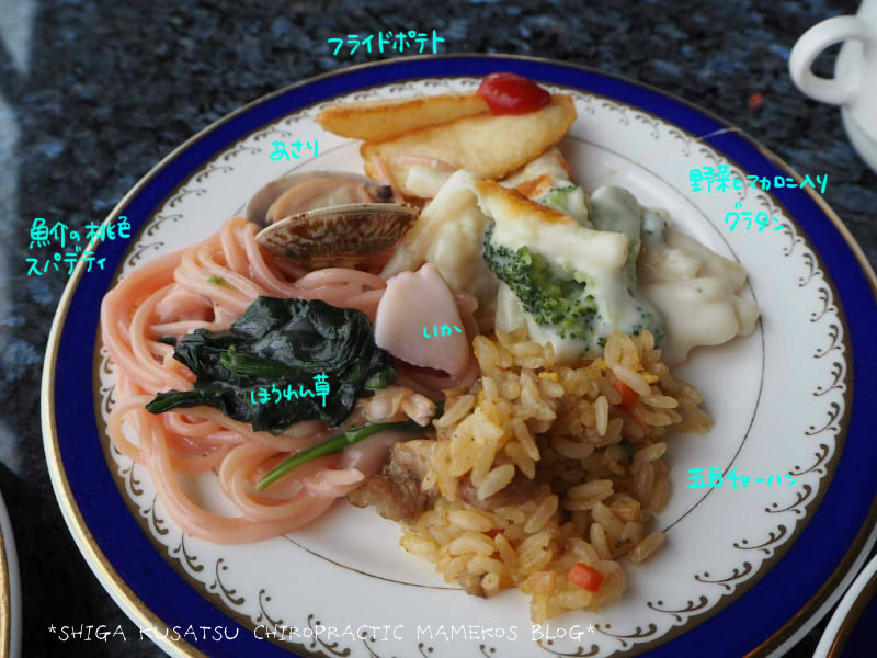 魚介の桃色スパゲティ他