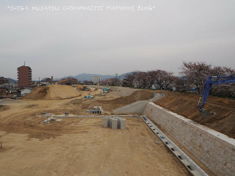 天井川工事中1
